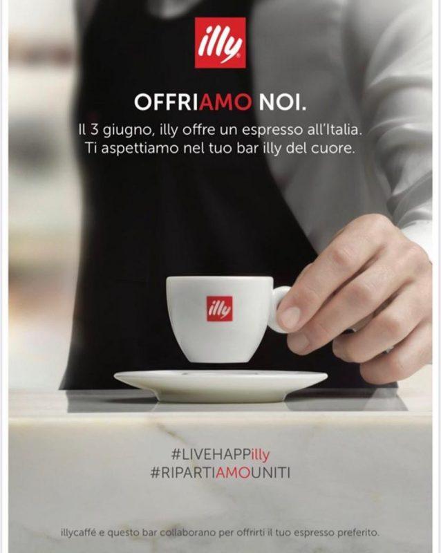 Mercoledì 3: Caffè Illy gratis per festeggiare la ripartenza