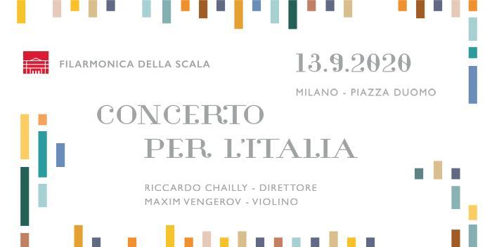 Filarmonica della Scala: Concerto per l'Italia in piazza Duomo