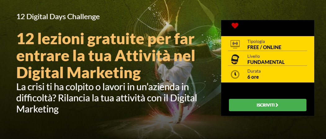 Le 12 Lezioni Gratuite in Digital Marketing