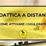 Come attivare i Giga gratis per la didattica a distanza