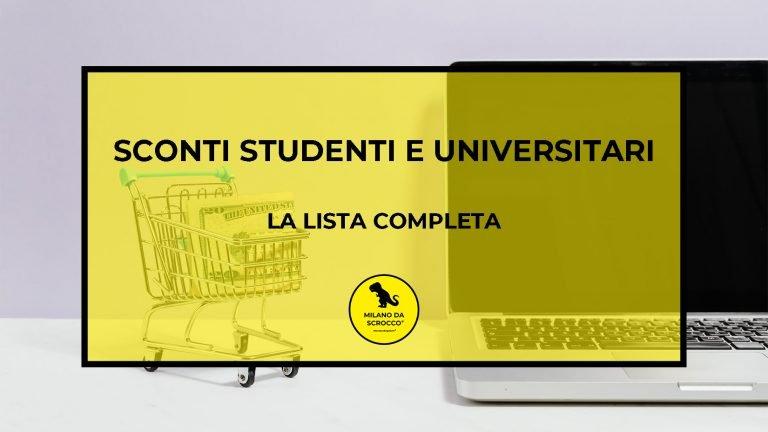 Sconti studenti e universitari: la lista completa