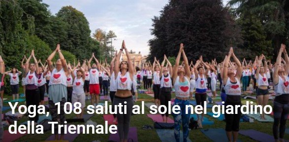 Read more about the article Yoga, 108 saluti al sole nel giardino della Triennale